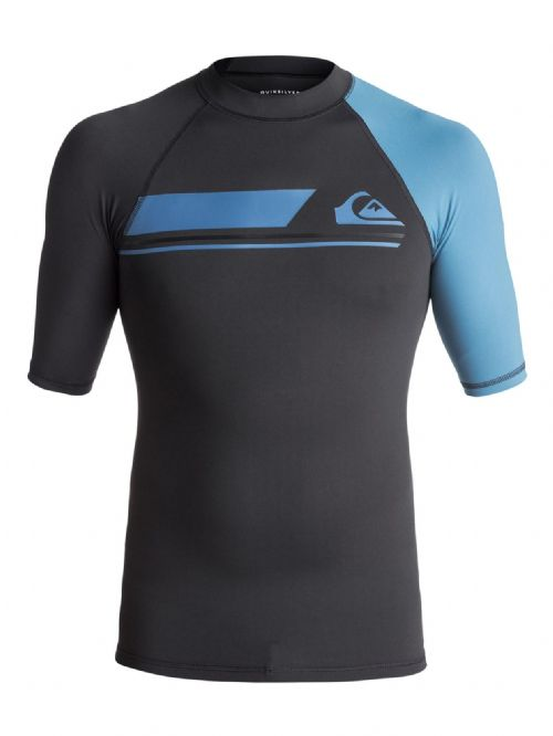 QUIKSILVER MENS RASH VEST.ACTIVE UPF50+ BLACK GUARD SURF T SHIRT TOP 7W 073 XKKB